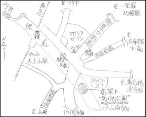 馬ノ池公園周辺地図